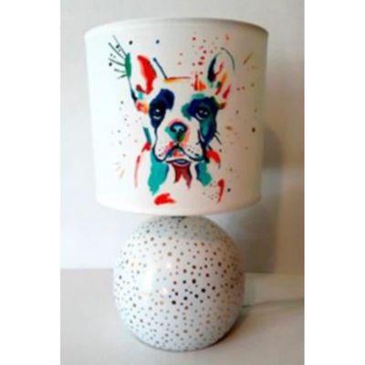 Lampe Chevet Theme Chien Bouledogue Francais Peint Main Achat