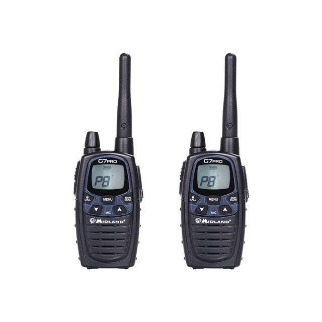 MIDLAND Talkie-Walkie G7 PRO twin PMR446/LPD - Noir