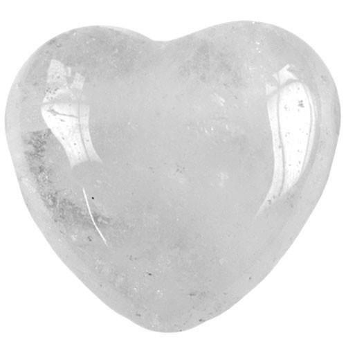 Coeur en Cristal de roche de 45 mm