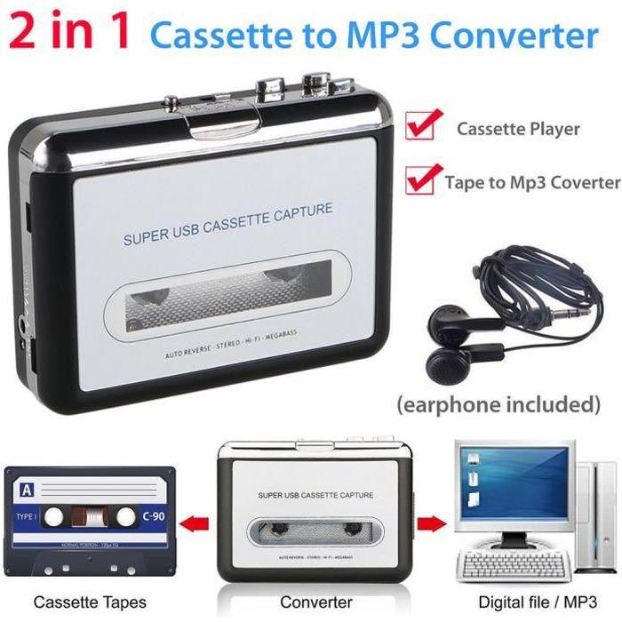 BALADEUR CD - CASSETTE Cassette USB vers PC Convertisseur de fichiers num