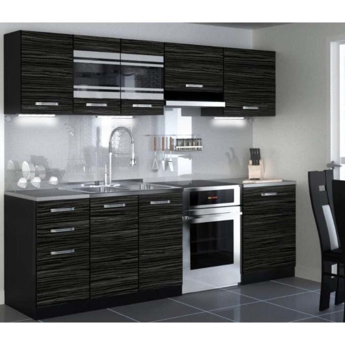 Nouvelle Cuisine équipée: JUSThome Torino LED Cuisine équipée Complète 240 Cm Modèle