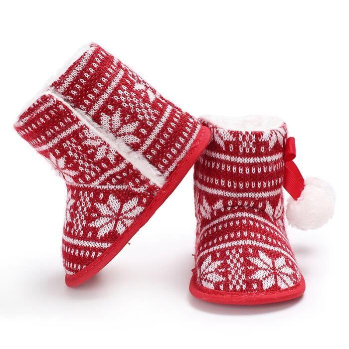 Noël Nouveau Chaussures de bébé Hiver Garde au chaud Bébé Bottes de neige FMs55TkVh