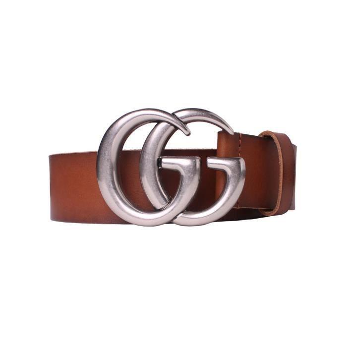 d2fc4d29b5eb GUCCI - Ceinture en cuir pour homme DOUBLE G (406831CVE0N525040) (marron -  100)