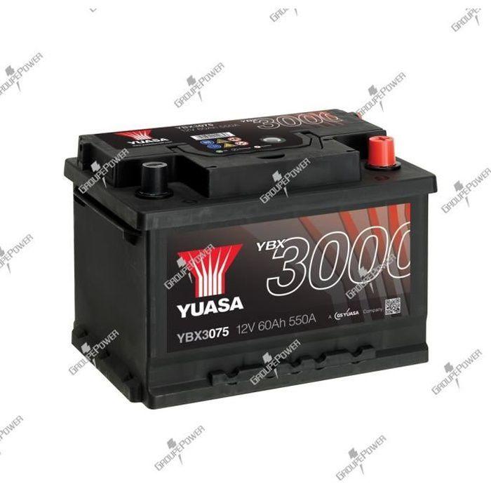BATTERIE VÉHICULE Batterie auto, voiture YBX3075 12V 60Ah 550A Yuasa