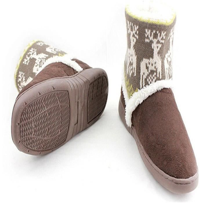 Bottines Femmes Deer Snow Boots hiver Coton-rembourré Chaussures FXG-XZ033Gris40