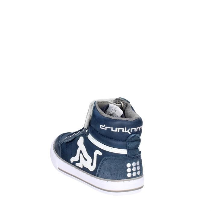 Drunknmunky Haute Sneakers Garçon Bleu, 36