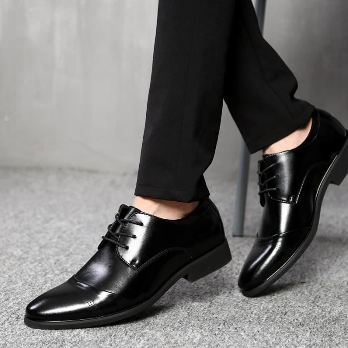 Hommes Flats Chaussures chaussures mocassins antidérapants Chaussures en cuir pour hommes taille 37-47 kbL3Qy2
