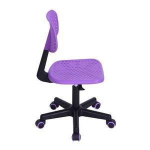 Fauteuil de bureau Benjamin noir violet Achat Vente