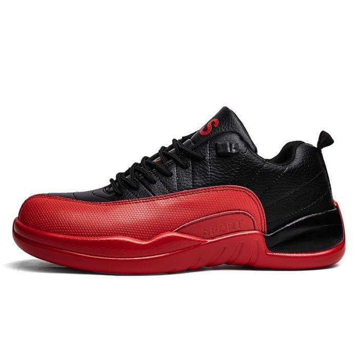 JOZSI Baskets Homme Chaussure été et hiver Jogging Sport léger Respirant Chaussures ZX-XZ221Noir42 GnwbSJG