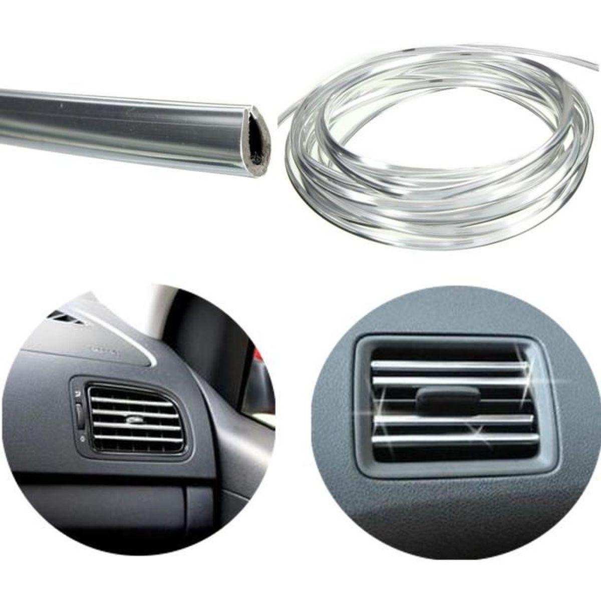 Decoration voiture bande chrome - Achat / Vente pas cher