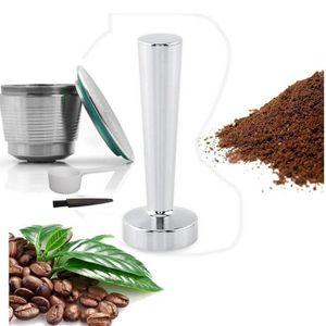 SERVICE À THÉ - CAFÉ Capsules de café nespresso capsule remplie d'acier