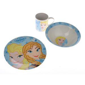 SERVICE COMPLET Set vaisselle enfant 3 pièces La Reine des Neiges