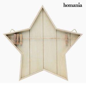 PÊLE-MÊLE PHOTO Porte photo étoile décorative avec corde et pinces