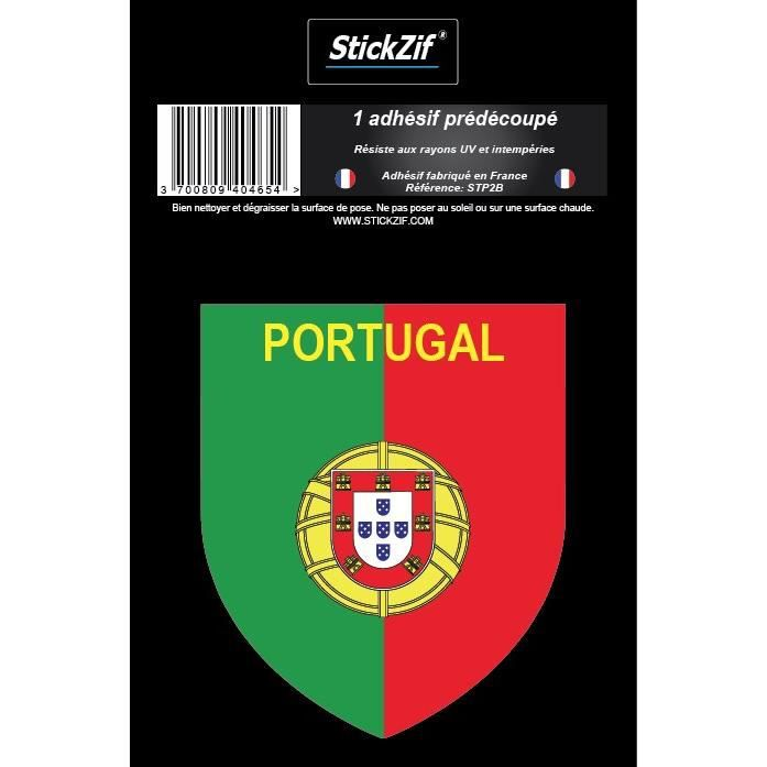 STICKZIF 1 Adhésif Blason Portugal STP2B