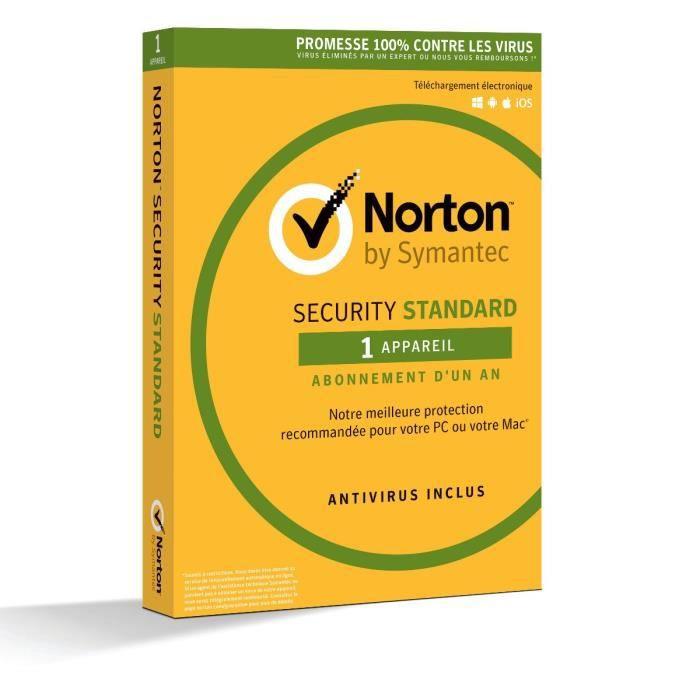 Anti-virus Norton Security 2018 Standard à télécharger - 1 appareil