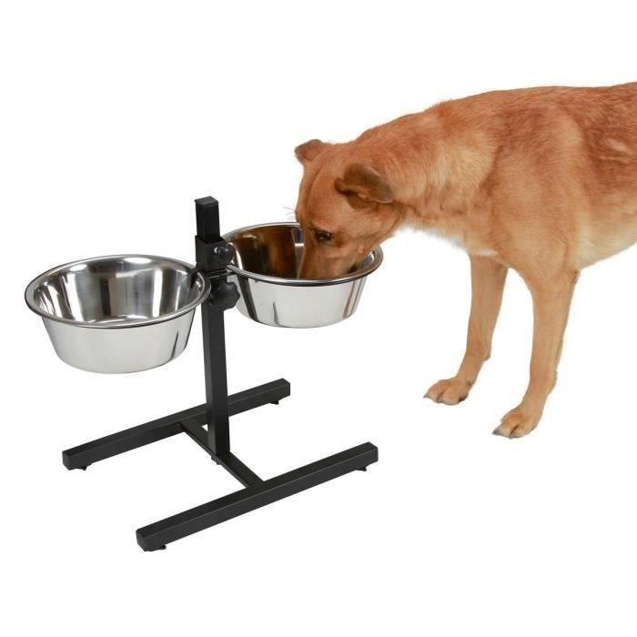 KERBL Bar alimentation avec écuelle pour chien - 2x1800ml
