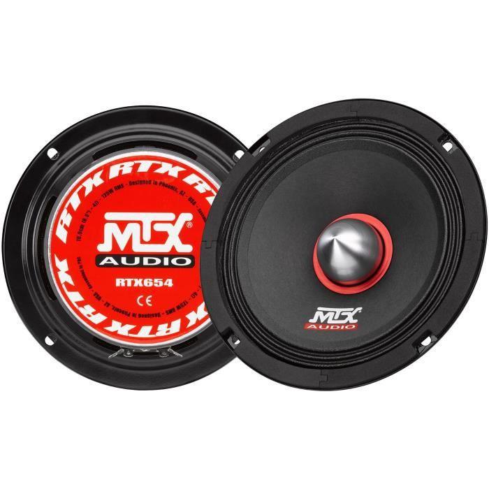 MTX Haut-parleur me´dium haute efficacite´ RTX654 - 16,5 cm - 125W