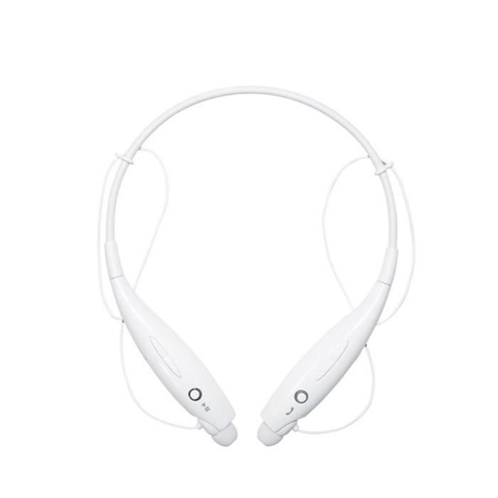 Tf Casque Bluetooth Stéréo Sans Fil Écouteurs Sport (blanc)