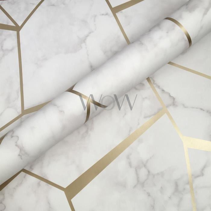 Fond d'écran géométrique en marbre fractal or et blanc - Fine Decor FD42265 - Achat / Vente ...