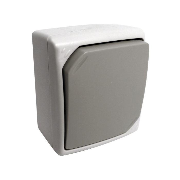 interrupteur bouton poussoir gris clair ip 54 achat vente interrupteur bouton poussoir ip 54. Black Bedroom Furniture Sets. Home Design Ideas