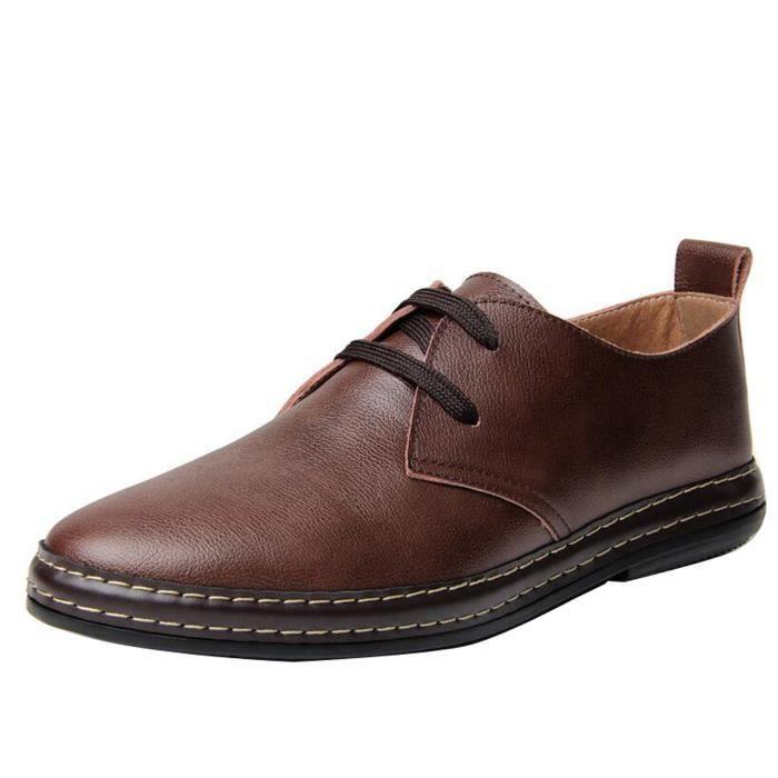 chaussures homme derby cuir Marron NyhQBqmTZH