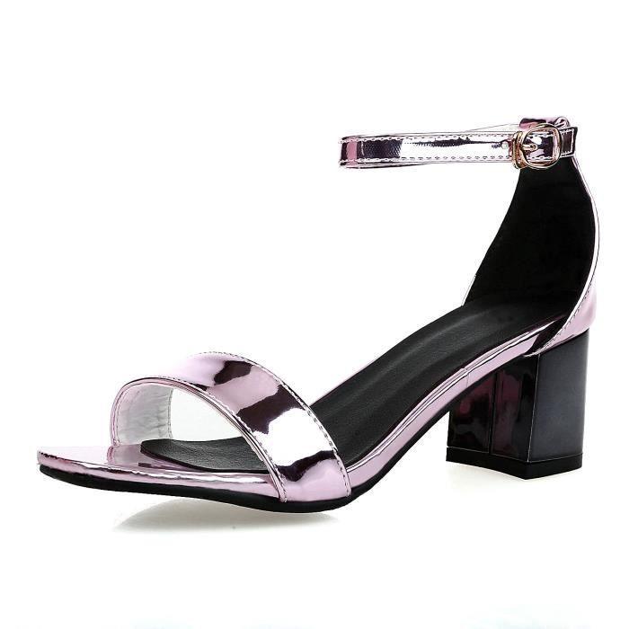 Nouveau Sandales à talons Femme Chaussure-talon...
