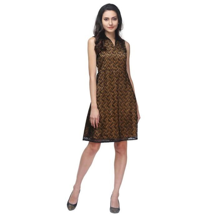 Womens Causal 100% Polyester Dress SC1XK Taille-36