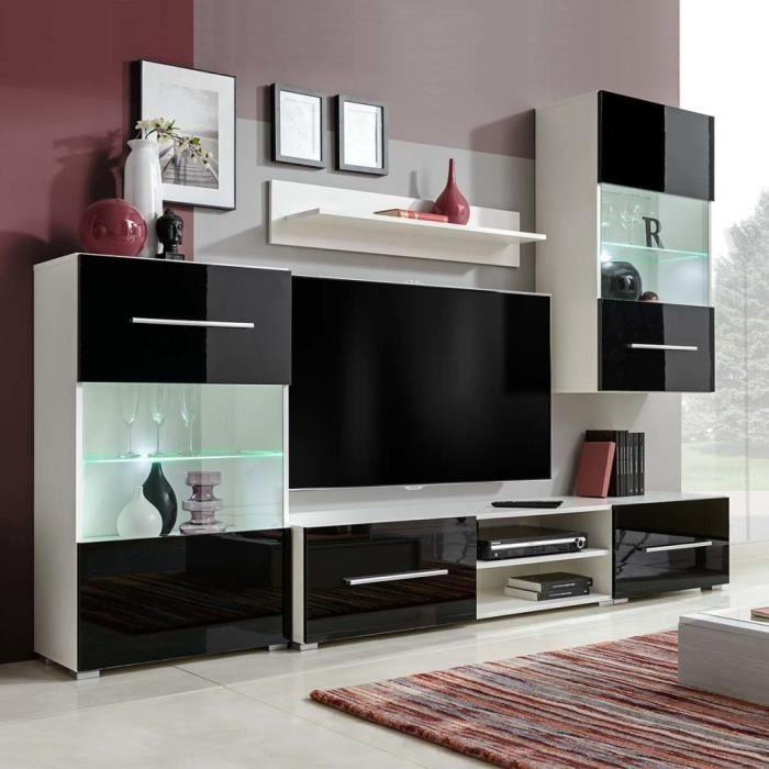 Meuble TV Meuble salon Armoire Bas scandinave décor contemporain 260 ...