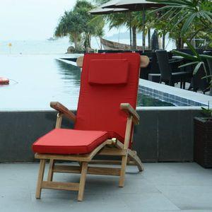 chaise longue teck achat vente chaise longue teck pas cher cdiscount. Black Bedroom Furniture Sets. Home Design Ideas