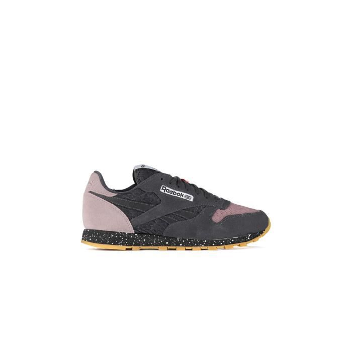 Baskets Reebok Cl Leather Sm Anthracite Homme
