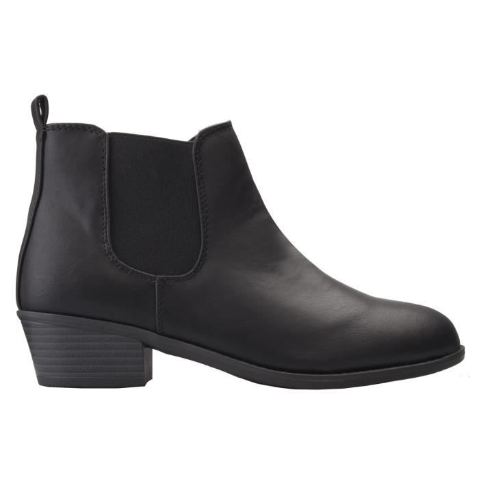 Western Chelsea Bottines -Confortable Casual Chaussure de marche Cowgirl Boot antidérapant E8KP5 Taille-37 1-2