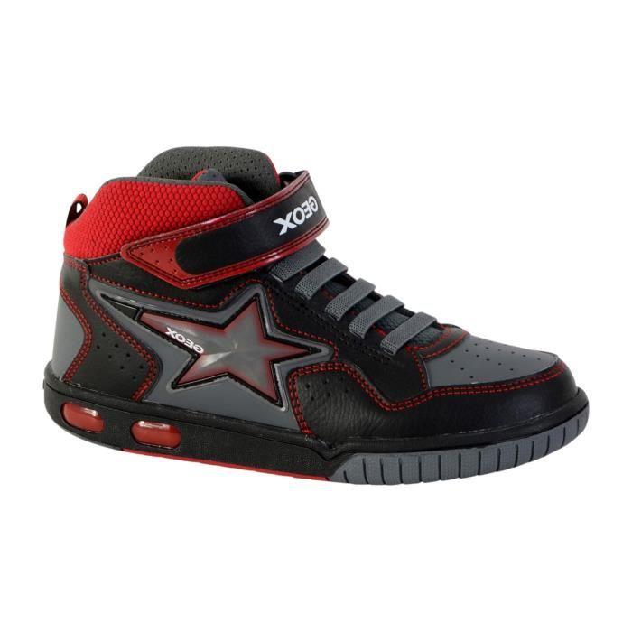 Basket Geox Enfant Gregg J7447A 05411 C0048 Black Red