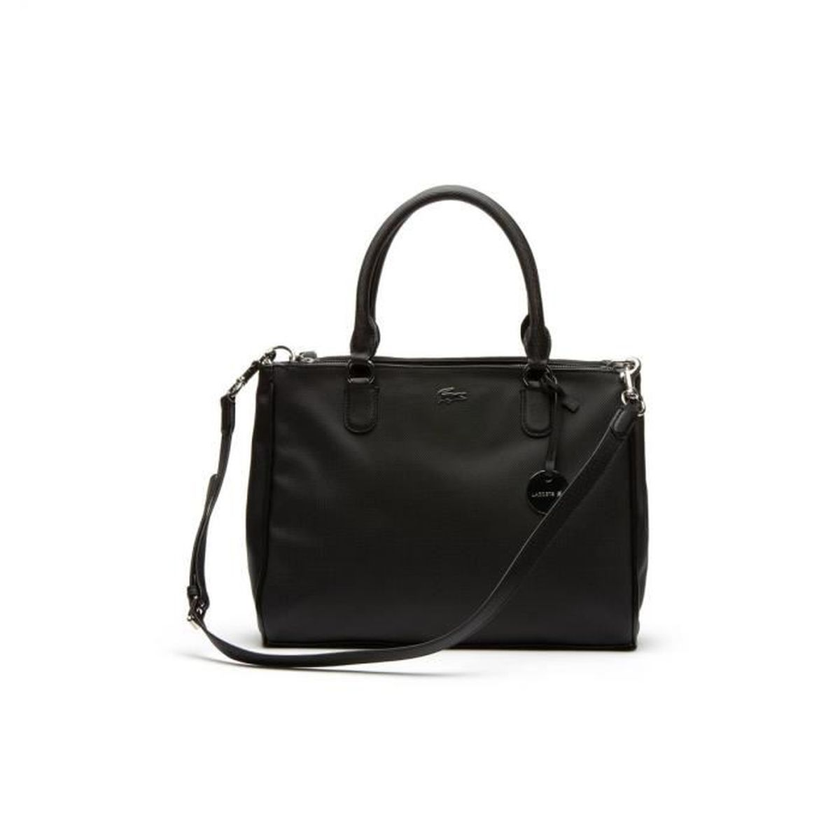 1bfff2473c Lacoste - Sac à main Daily classic (nf1362dc) black 000 taille 26 cm ...