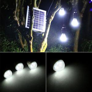 LAMPE DE JARDIN  4W Kit d'éclairage solaire extérieur de 3 ampoules
