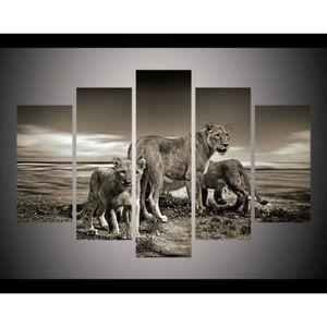 TABLEAU - TOILE Animaux sauvages Lion Picture HD Peinture imprimée