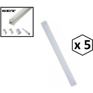 AMPOULE - LED LOT DE 5 REGLETTE TUBE LED T5 4W 31CM - 6000K BLAN