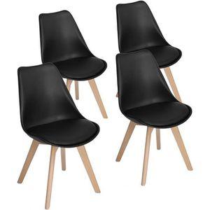 CHAISE Lot de 4 chaise de salle a manger Scandinave Desig