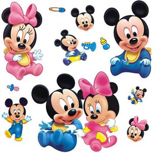 Stickers mickey bebe achat vente stickers mickey bebe for Stickers mickey chambre