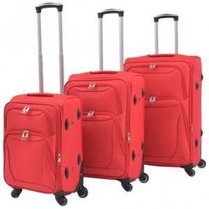 SET DE VALISES Set de 3 valises souples rouge CS913161
