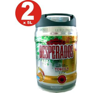 BIÈRE 2 x futs de bière Desperados bière avec Tequila da