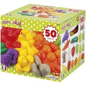 DINETTE - CUISINE ECOIFFIER CHEF Pack 50 Fruits et Légumes