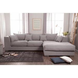 canape angle coton achat vente canape angle coton pas cher soldes d s le 10 janvier cdiscount. Black Bedroom Furniture Sets. Home Design Ideas
