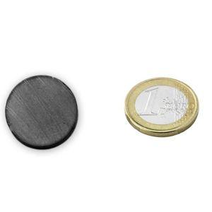 AIMANTS - MAGNETS Disque Ø 20 x  6mm Ferrite Y30 sans placage adhére