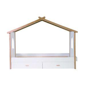 STRUCTURE DE LIT Miliboo - Lit cabane enfant avec tiroirs design BI