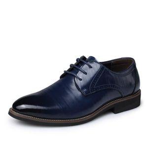 RICHELIEU IZTPSERG Richelieu Cuir Chaussure Homme Bleu