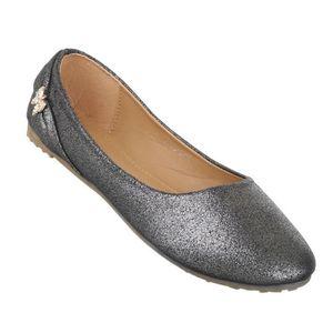 Femme ballerine chaussures Lofers Espadrilles escarpin argent gris 41 QbYUz