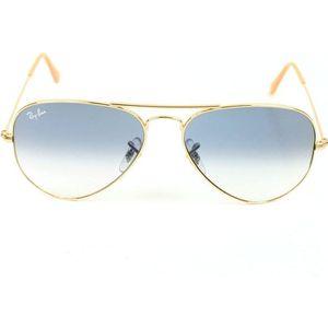 LUNETTES DE SOLEIL Aviator 3025 doré-verre bleu dégradé T. S (55 mm)