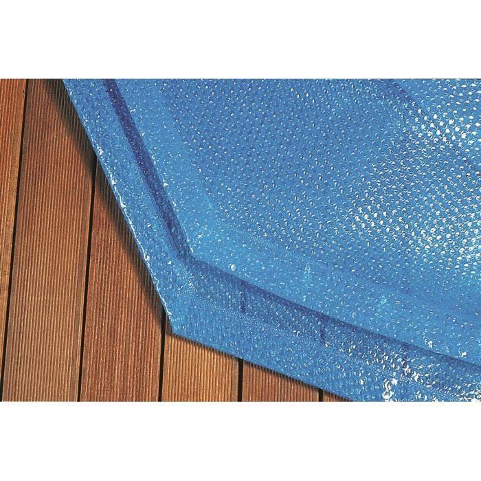Couverture à bulles pour piscine bois 8x4 m