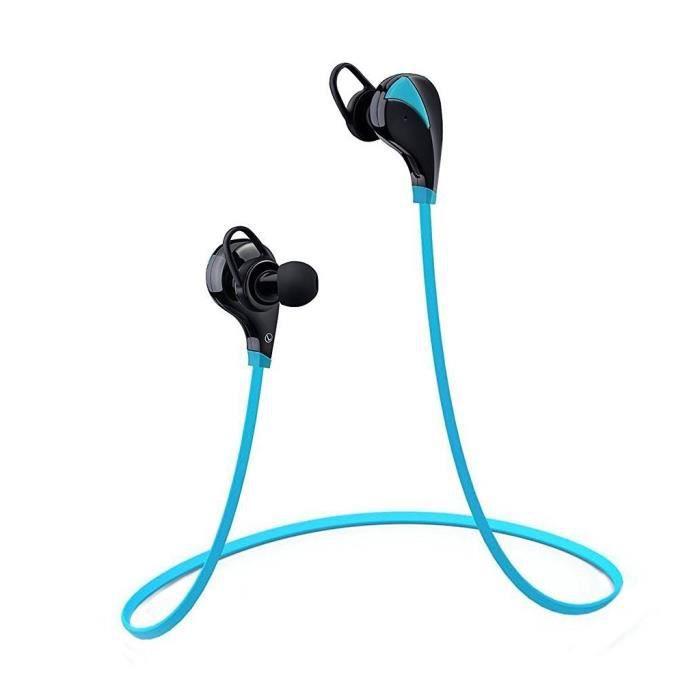 Casque De Sport Bluetooth 4.0 Ecouteurs Sans Fil Stéréo Sports Course Oreillette D'exercice Avec Microphone Isolation Du Bruit...