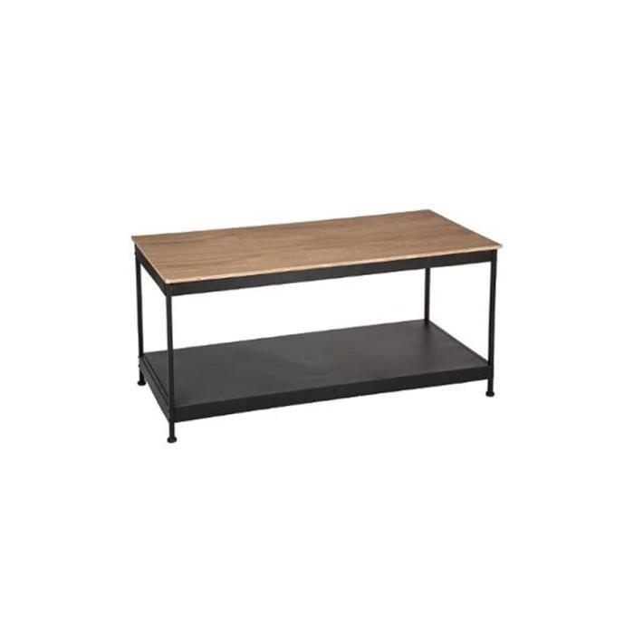 Basse Table Autres Joris Rectangulaire NoirBeige Industrielle A543jqRL